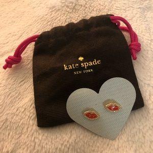 Kate Spade Lip Earrings